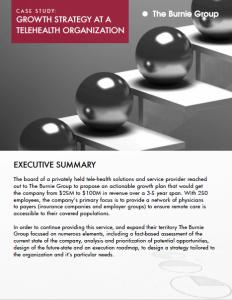 Case Study: Growth Strategy at a Telehealth Organization