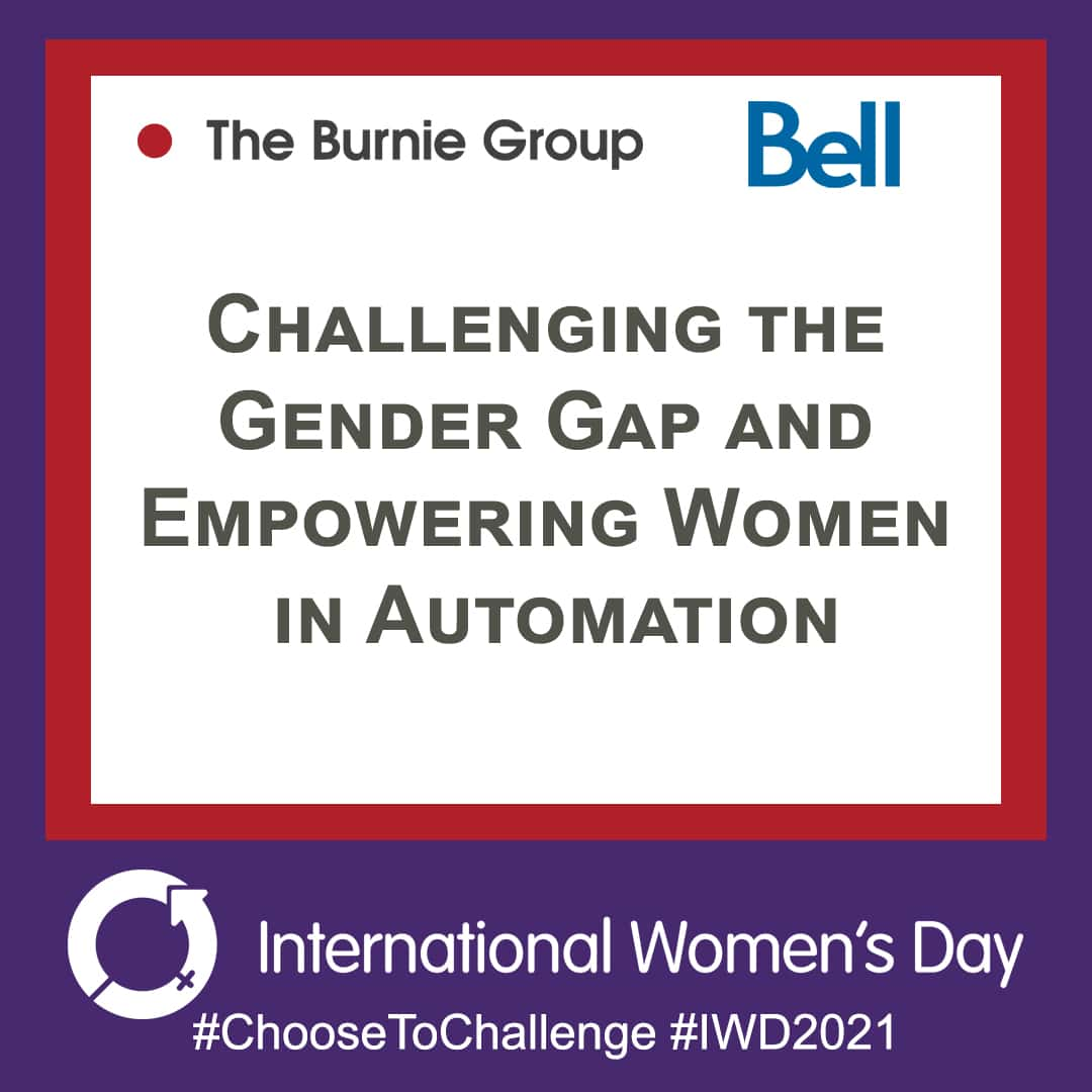Event poster for webinar Challenging the Gender Gap and Empowering Women in Automation