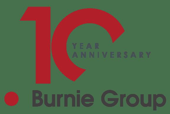 Burnie Group 10 Year Anniversary logo